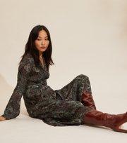 Odd Molly - Amélie Long Dress - DEEP ASPHALT