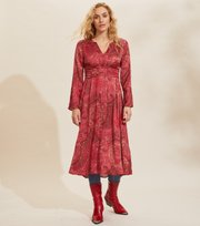 Odd Molly - Amélie Long Dress - RED ELDERBERRY