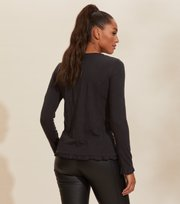 Odd Molly - Malvina L/S Top - ALMOST BLACK