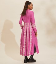 Odd Molly - Eloise Long Dress - PINK DAHLIA