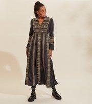 Odd Molly - Eloise Long Dress - DEEP ASPHALT