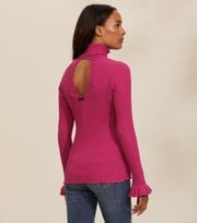 Odd Molly - Liza Turtle L/S Top - PERFECT MAGENTA