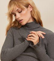 Odd Molly - Liza Turtle L/S Top - GREY MELANGE