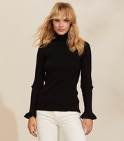 Odd Molly - Liza Turtle L/S Top - ALMOST BLACK