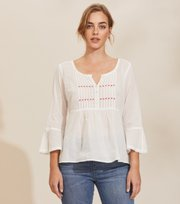 Odd Molly - Alma Bluse - LIGHT CHALK