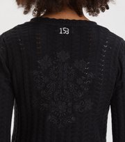 Odd Molly - Garden Walk Cardigan - ALMOST BLACK