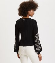 Odd Molly - Bloomy Garden Cardigan - ALMOST BLACK