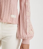 Odd Molly - Bloomy Garden Cardigan - SMOKE ROSE