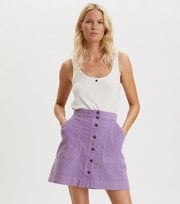 Odd Molly - Living All The Way Skirt - QUIET PURPLE