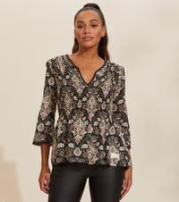 odd molly remix blouse almost black