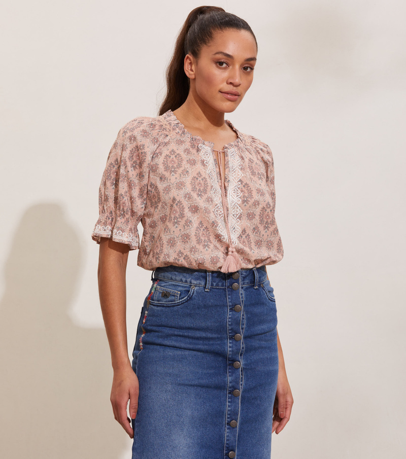 Isabelle Short Sleeve Blouse
