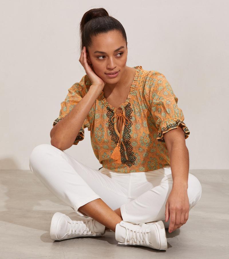 Isabelle Short Sleeve Blouse
