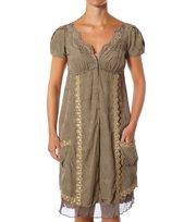 Odd Molly - shiver s/s dress - LITE MILITARY