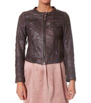Odd Molly - leatherette biker jacket - VINTAGE DARK GREY