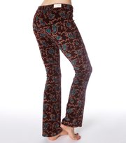 Odd Molly - printed mah-jong velour pant - DARK BERRY