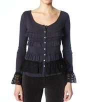 Odd Molly - purl sweater - DARK GREY
