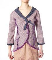 Odd Molly - carte bl. flannel wrap blouse - ROSE